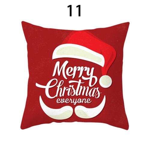 45cm Square Merry Christmas Throw Pillow Case Car Cushion Cover Sofa Decor 06CA