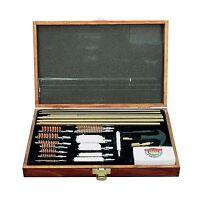 Gunmaster 35 Piece Universal Gun Cleaning Kit Wood Case Free Shipping