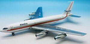 En vol 200 If7200915 1/200 Alaska Airlines Boeing 720-062 N720v avec support 2000100125243