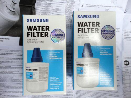 Deux Genuine Samsung DA29-00003G Aqua Pure Plus Réfrigérateur Réfrigérateur Filtres à eau