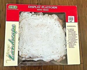 Vintage Lemax Village Collection Medium Display Platform w/box, no trees UC