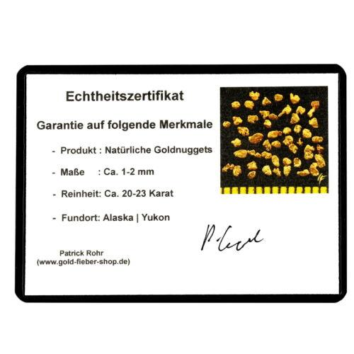 102050 Echte Goldnuggets aus Alaska 1 mm 20-23 Karat Münze Barren Schmuck