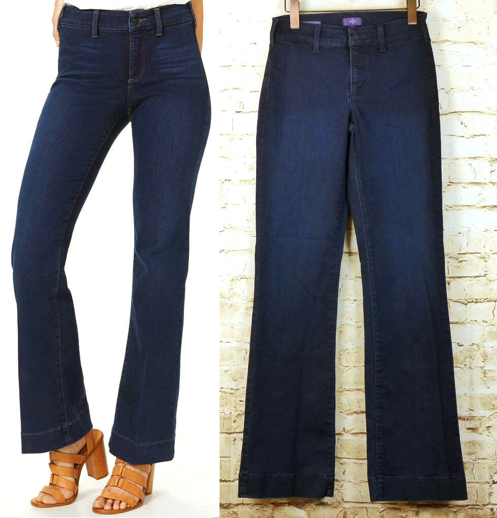 NYDJ Not Your Daughters Jeans Teresa Trouser Jeans Provence Wash Women Sz 2
