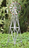 Miniature Dollhouse Fairy Garden Accessories Iron Windmill