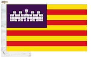 ESPANA-BALEARES-ISLAS-COURTESY-Barco-Bandera-De-Cuerda-amp-pueden-Alternar