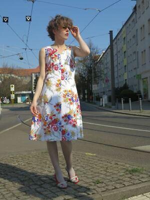 Dolce Fiori Abito Vestito Spalline Abito Estivo 60er True Vintage 60s Women's Dress Flowers-mostra Il Titolo Originale