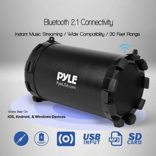 Portable Bluetooth Wireless BoomBox Stereo System Built-in Rechargeable Battery