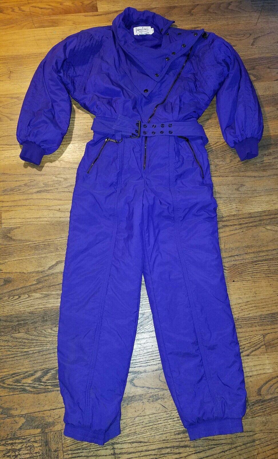 NICE Vintage KAELIN Ski Suit Purple Winter Snowboard 90s 80s CUTE 10 Ladies