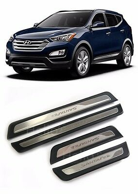 For 2013 2014 2015 HYUNDAI Santa Fe SPORT  Door Scuff Plate Pad 4pcs For Genuine