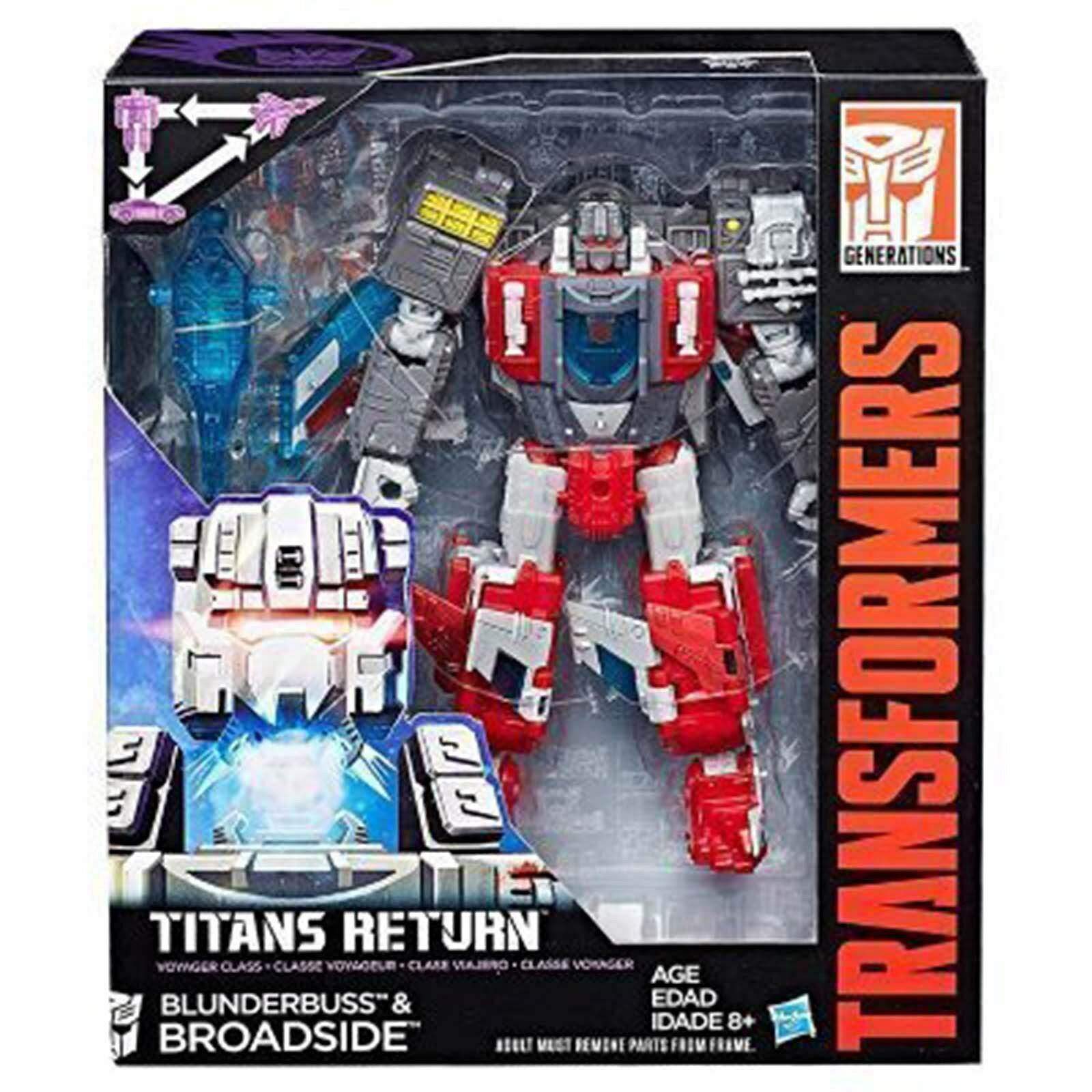 Titans Return Voyager BLUNDERBUSS Generations &BROADSIDE Action Transformers Generations BLUNDERBUSS ea690e