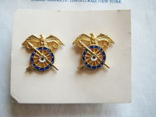 Vintage//Antique NEVER USED US Military Army Quartermaster Insignia Pin on Origin