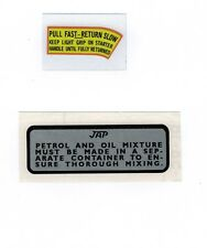 J.A.P. Vintage Small Engine Repro Decals