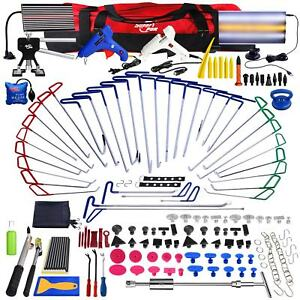 178× Car Body PDR Rods Paintless Dent Hail Repair Tools Dent Puller Removal Kit