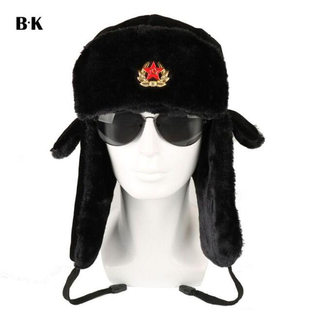 64851d311 Russian Ushanka Hat Army Winter Military Cap Soviet Soldier Ussr Uniform  Fur Cap