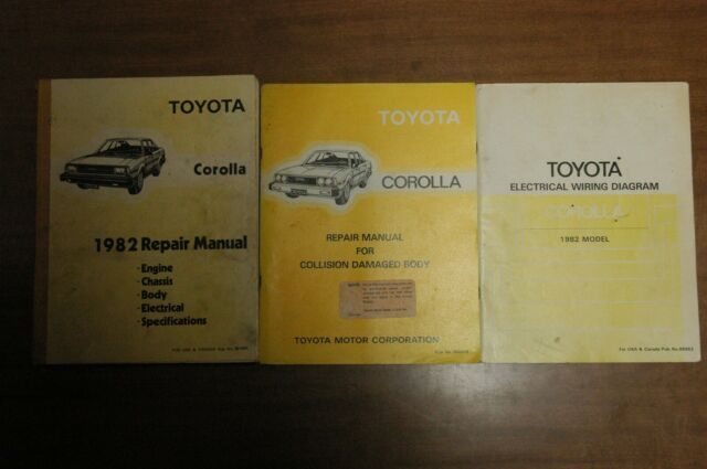 1982 Toyota Corolla Service Manual  Wiring Diagram  And