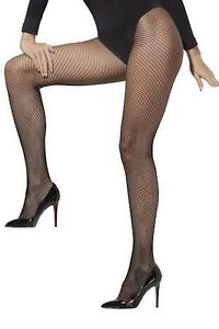 smiffy's black extra large fishnet tights plus size halloween