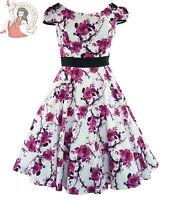 HEARTS & ROSES H&R 50's FLORAL ROSE vintage DRESS FUSCHIA PINK