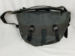Timbuk2 Bici Messenger Bag Charcoal Bicycle Laptop Briefcase Leather