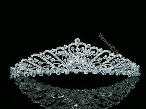 Bridal-Floral-Rhinestones-Crystal-Prom-Wedding-Crown-Tiara-8567