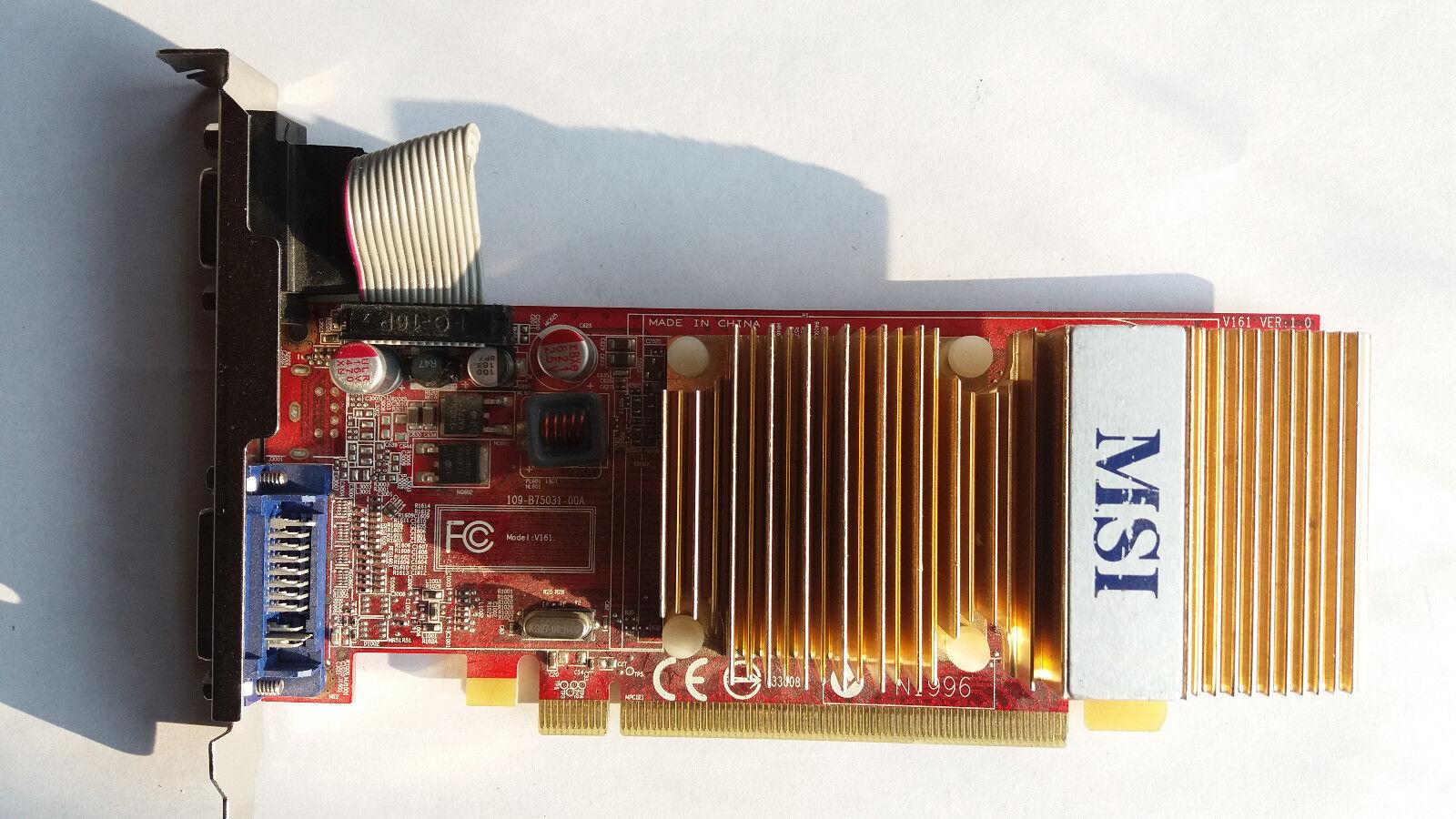 MSI ATI Radeon 4350 256 MB, R4350-D256H, PCI-E VGA D-SUB DVI-I V161 VER: 1.0