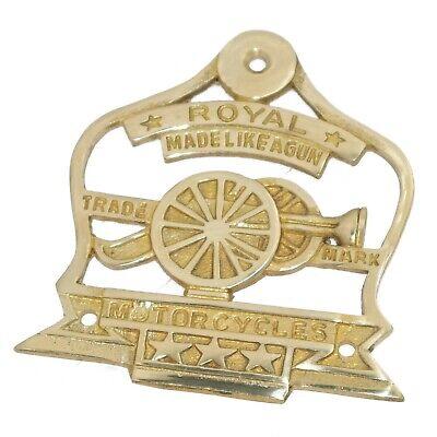 Königs Logo Messing Benzintank Badge Motiv Emblem Set Passend für Royal Enfield