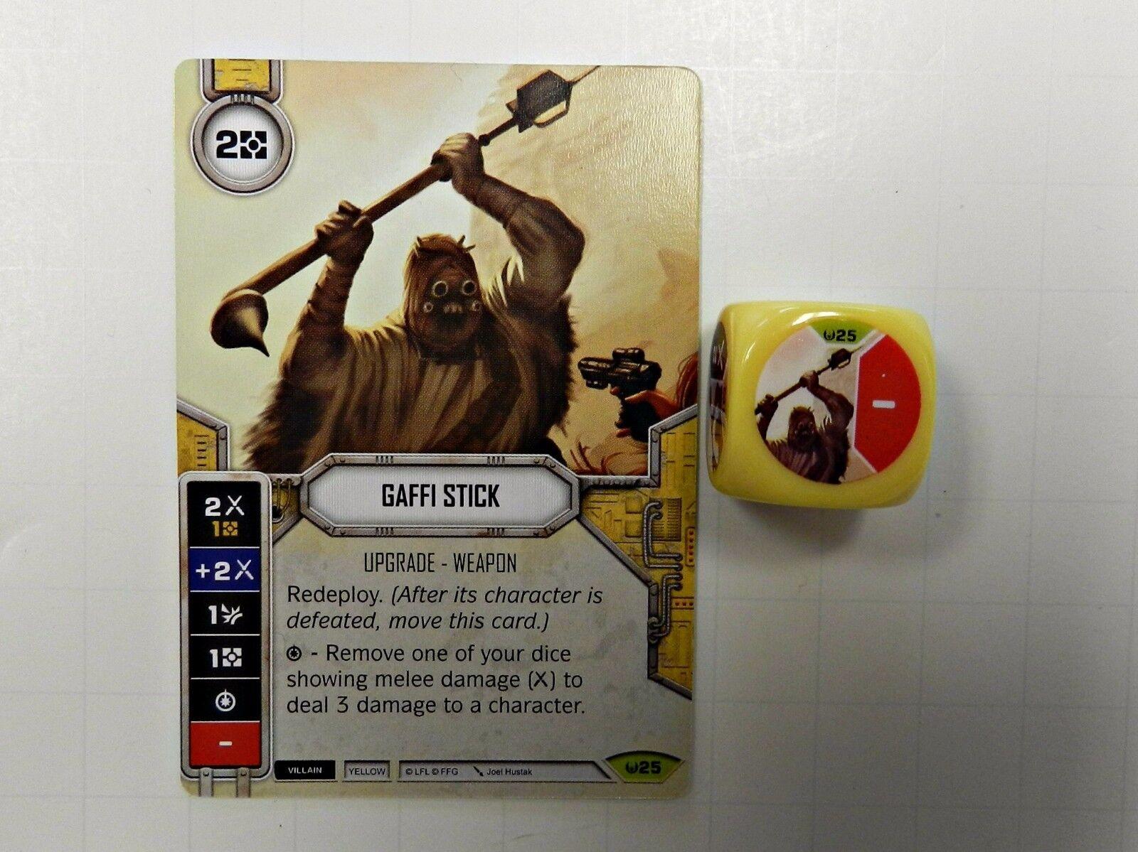 Star Wars Destiny Awakenings #25 Gaffi Stick w// Dice