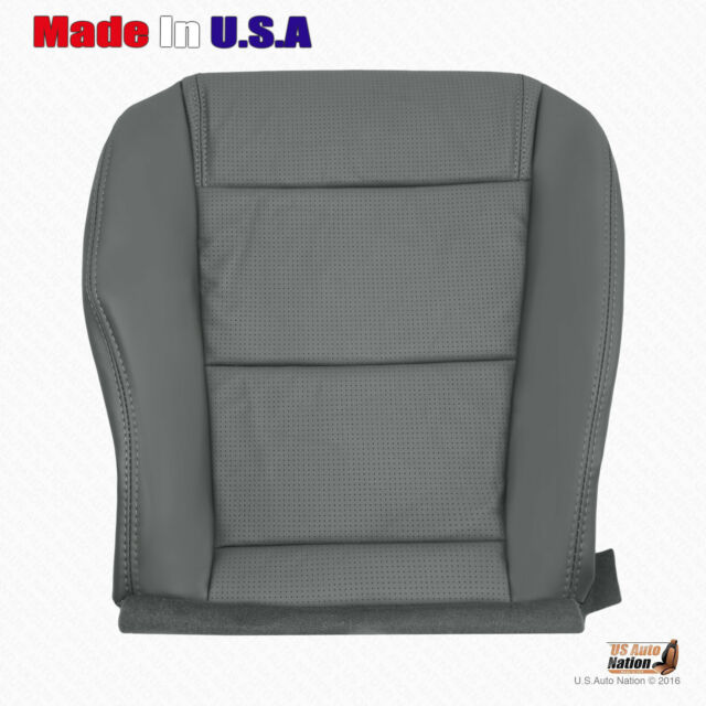 Driver Bottom Perforated Leather Seat Cover GRAY Fits 2004