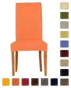 Dettagli su DUE coprisedia Glove VESTI SEDIA tessuto liscio per 2 sedie vari colori