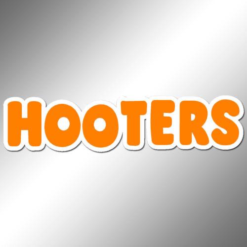 """Hooters Decal Vinyl  Sticker 6.0/"""" x 1.5/"""" die cut dual-colors orange"""