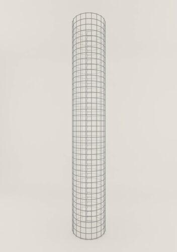 GABIONENSÄULE rund ca Maschenweite 5 x 5 cm Gabione//Säule Höhe 200 cm 32 cm