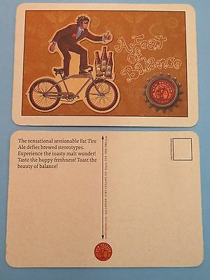 NEW BELGIUM Brewery Fat Tire Amber Ale ~ Ft Collins CO Breweriana Beer COASTER