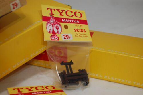 851 NOS Vintage HO Tyco Mantua Skids for Securing Flat Car Loads No 1 Pk of 6