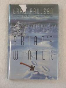 SIGNED-Gary-Paulsen-BRIAN-039-S-WINTER-Delacorte-Press-1996-4th-Printing