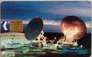 Malaysia-Used-Phone-Card-Labuan-Satellite-Earth-Station