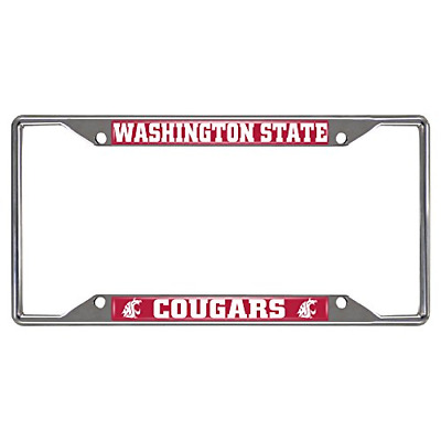 University of Wisconsin License Plate Frame Chrome Screw Covers