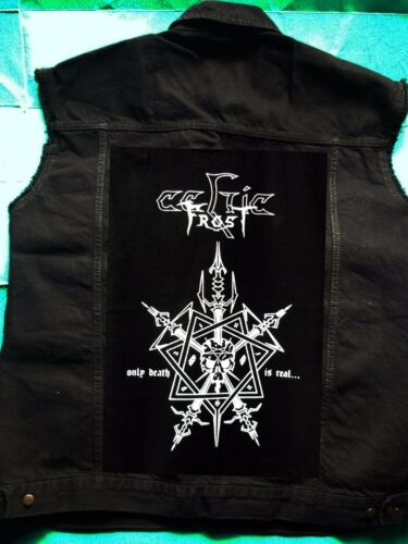 Girls' Cut Black 8 Sz 18 Patch Denim Frost off Morbid Celtic Waistcoat Tales wPqpYItxT