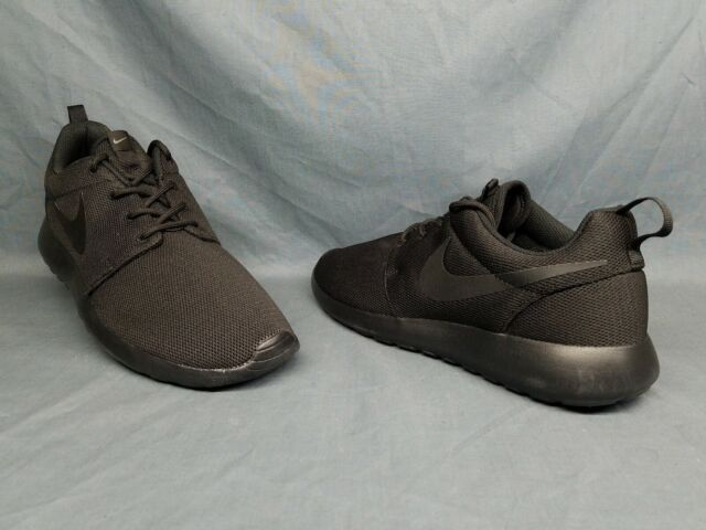 d900580f13f1 Nike Women s Roshe One Running Sneakers Mesh Black Dark Grey Size 9.5 ...