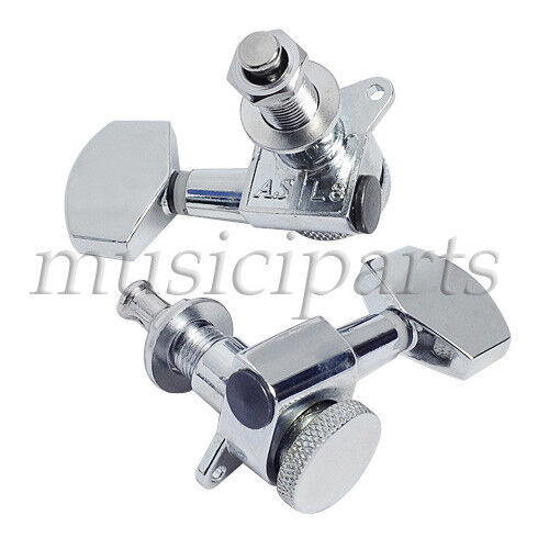 electric acoustic guitar tuning pegs locking tuners machine heads 3l3r chrome 634458561259 ebay. Black Bedroom Furniture Sets. Home Design Ideas