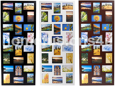 APERTURE PHOTO PICTURE FRAME HOLDS 24 PHOTOGRAPHS PHOTOS MULTI FRAME COLLAGE