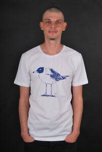 CLEPTOMANICX-Scoop-Neck-Tee-Lonely-Gull-White-T-shirt