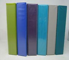 Lot Of 6 Used Assorted Colors 3 Ring Binders 1 12 Inch D Rings