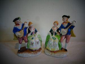 Occupied Japan Victorian Figures Figurines Matching Set Pair Ebay