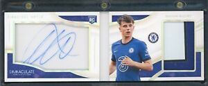 2020 IMMACULATE SOCCER MASON MOUNT CHELSEA ROOKIE AUTO PATCH BOOKLET 11/23