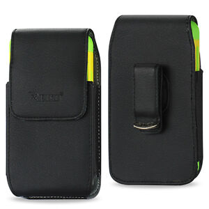 REIKO-Vertical-Leather-Carrying-Side-Case-Pouch-Cover-Holster-Swivel-Belt-Clip