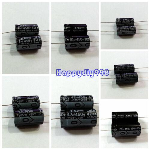 1 pc// 10 pc// 30 pcs 450v 10 uf Audio capacitors for guitar amplifier 21x13mm