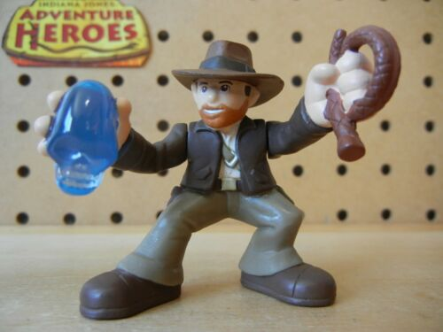 Indiana Jones Adventure Heroes INDY holding Crystal Skull /& Whip from Wave 2
