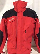 Red & Black Omni Tech Titanium Waterproof Columbia Ski Jacket Small *Read*