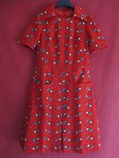Robe Orange Motif géometrique Vintage Femme Rétro dress Pop - 42
