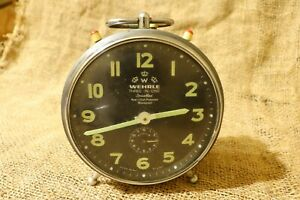 Vintage Alarm Clock Mechanical WEHRLE Three In one Rare Excellent Condition #59