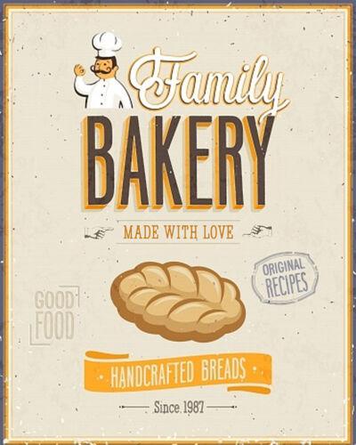 Bakery  VINTAGE RETRO ADVERTISING ENAMEL METAL TIN SIGN WALL PLAQUES